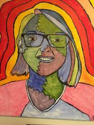 District Reflections Winner Ainsley K. - Congratulations for being awarded for  your self-portrait in acrylic on canvas!